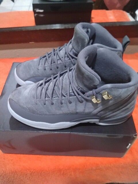 low priced 7e599 11db6 Nike Air Jordan Retro XII 12 Dark Grey Wolf Grey Size 7 ...