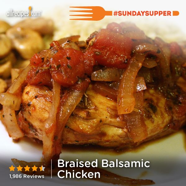 """Braised Balsamic Chicken 