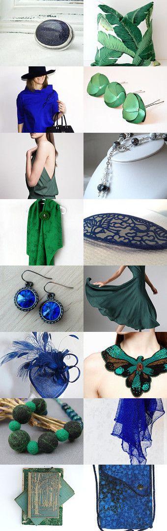 Treasury time !Blue & Emerald Mood by Marie Digne de KazamarieDesigns on Etsy -- https://www.etsy.com/treasury/MTA1ODQ1NDJ8MjcyNjU3NDIwNg/blue-emerald-mood