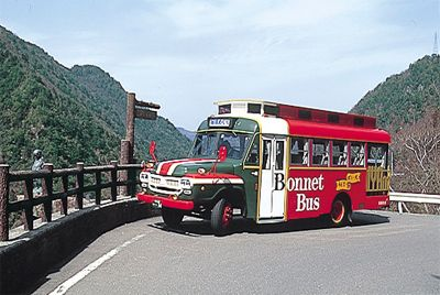 Bonnet Bus. Looking for more information about Tokushima? Go Visit Tokushima Prefecture.  http://www.pref.tokushima.jp/