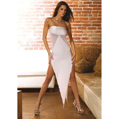 ABITO BIANCO SEXY BIAS CUT EVENING GOWN - UNICA SALE:  29.96€