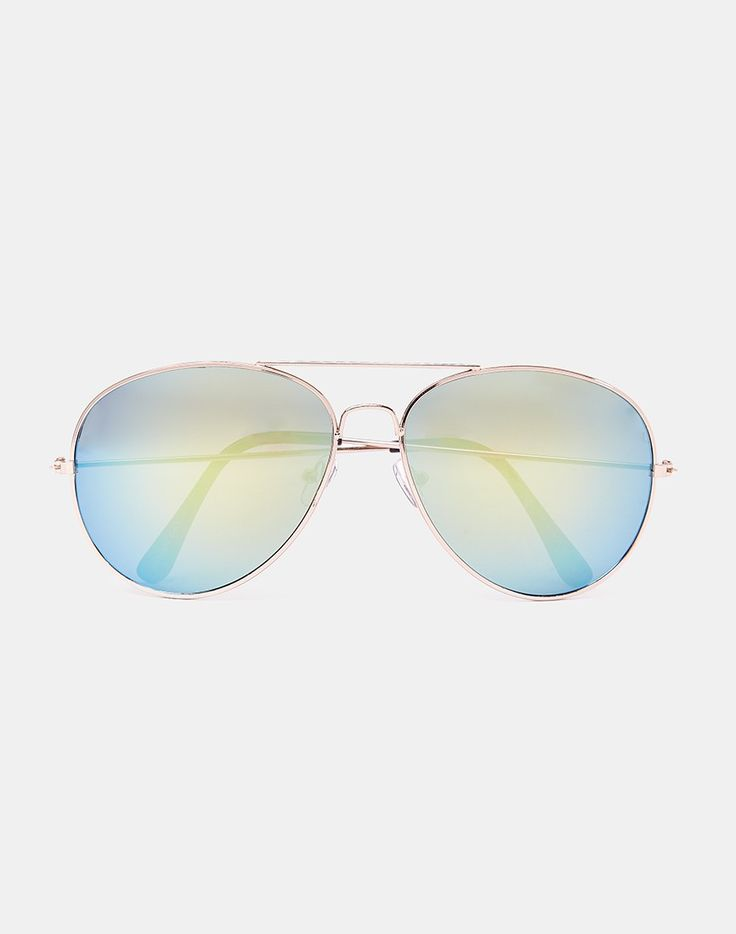 The Idle Man Aviator Sunglasses with Revo Lens - Silver - Mens accessories
