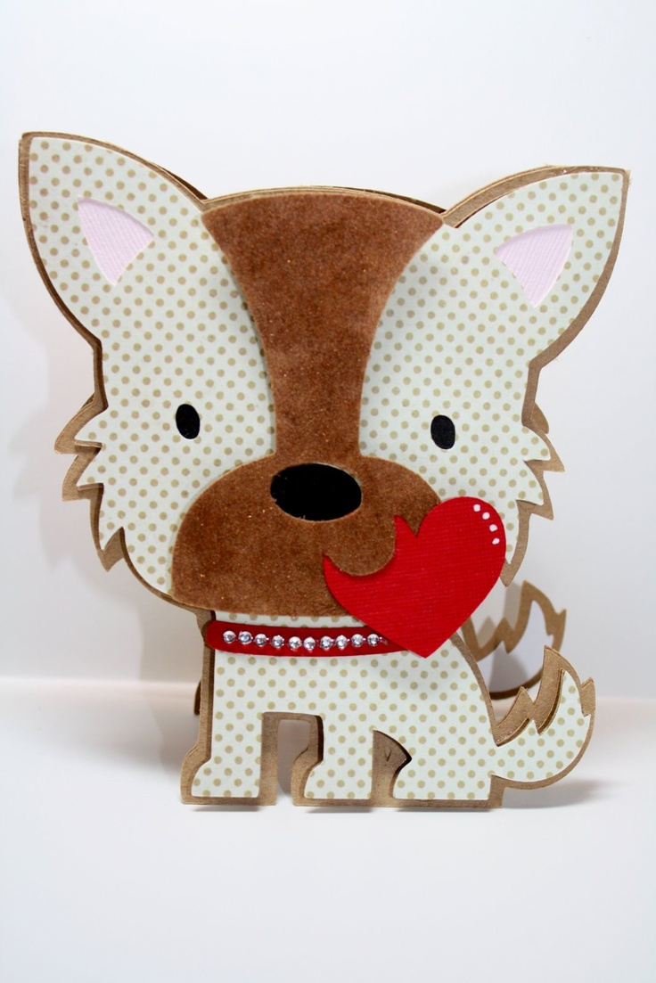 Inspired and created this Valentine's card for my niece. Create a Critter Cartridge - Puppy   *