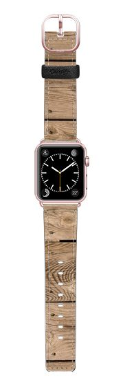 Casetify Apple Watch Band (38mm) Saffiano Leather Watch Band - Deck Wood by Bruce Stanfield