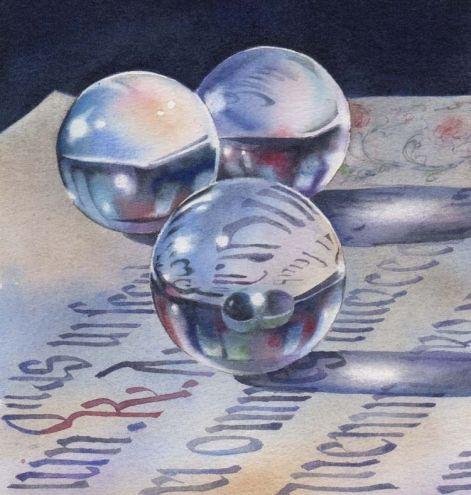 SURFACE TENSION watercolor still life painting -- Barbara Fox