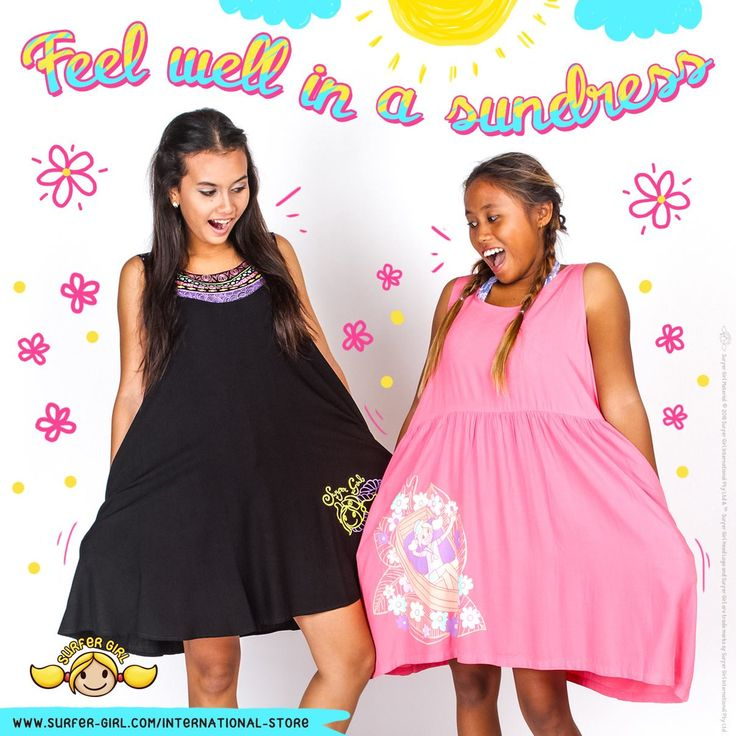 Every girl looks so cute in a sundress :) Wouldn't you agree, Girls? I feel so light and all is well when I'm in one :D Love, Summer <3 #surfergirl #teenagefashion #teenagebrand #kidsfashion #tropicalstyle