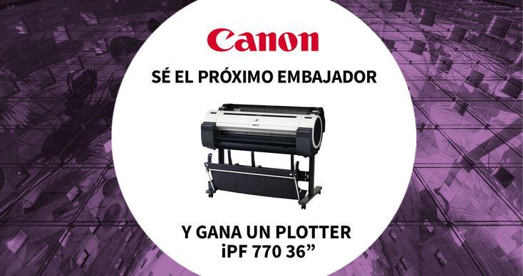 """Ganador del concurso """"Sé el embajador de la marca CANON"""""""