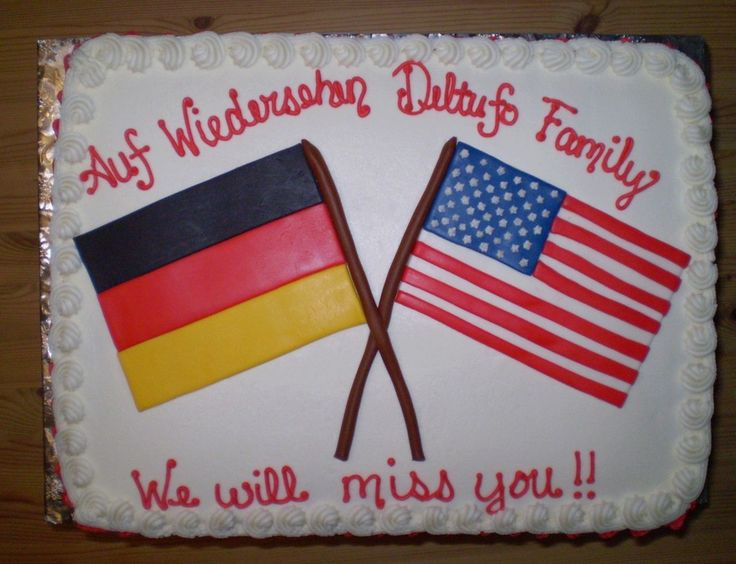 This cake was done for a family moving to Germany. Flags are MMF.
