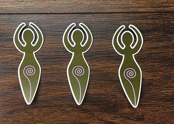Set of Triple Goddess diecuts