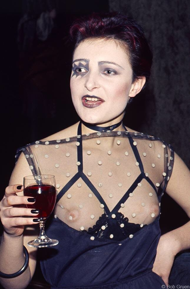 Siouxsie Sioux at Searchy's Penthouse Club party in London, October 1976