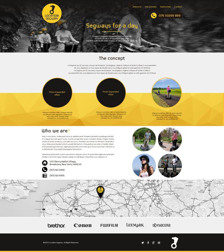 Website design - SEGWAY Location