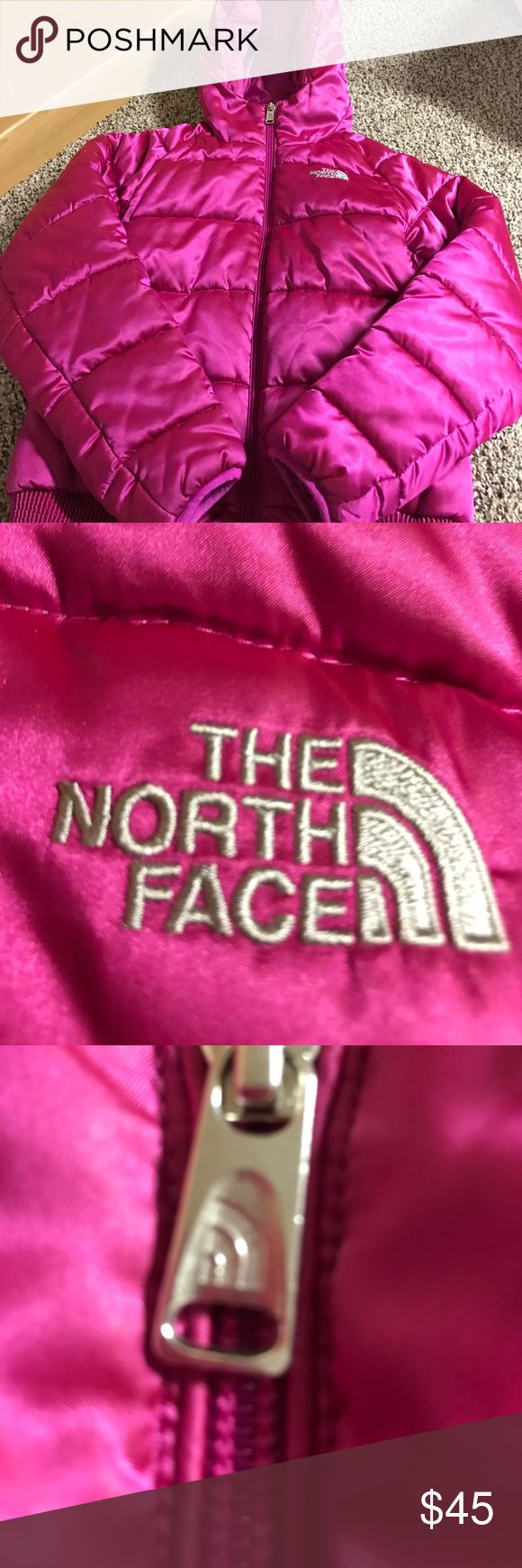 Girl's Authentic North Face Winter Coat WORN ONE WINTER!!!! Great overall condition girl's north face coat. No flaws, stains, etc. Authentic. Was $130 at Nordstrom. Inside name label has been colored over for privacy.  I also have a fall north face listed in the same size. I ❤ Negotiating North Face Jackets & Coats Puffers