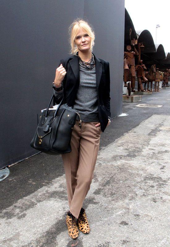 Taupe, grey \u0026amp; black (with Celine luggage envelope bag)   Nothing ...