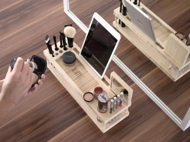 les 25 meilleures id es de la cat gorie rangements maquillage sur pinterest organisation de. Black Bedroom Furniture Sets. Home Design Ideas