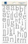 Adornit Lowercase Dimensional Foam Alphabet Stickers-White