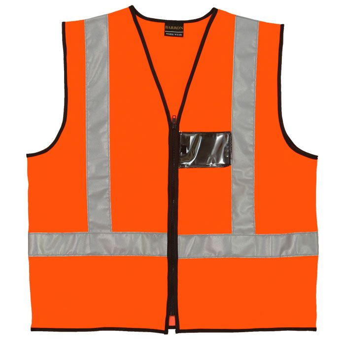 Orange Reflective Vest #reflectivevest #safety #safetywear #workwear #reflective