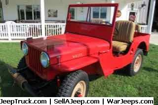 Jeeps For Sale and Jeep Parts For Sale - 1948 Willys CJ 2A