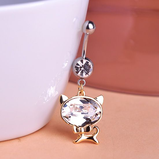 >> Click to Buy << Illuminati Colares Bijuterias Hello Kitty Cat Belly Button Rings Piercing Navel Percing Perfumes For Personality Gothic Men Vaz #Affiliate