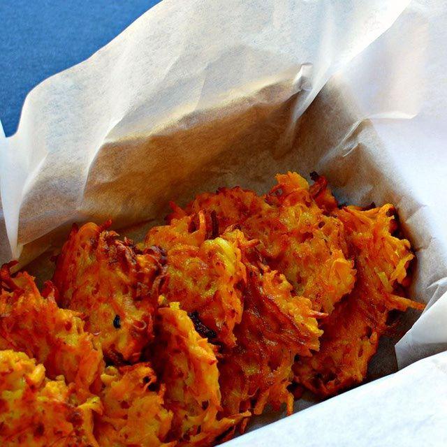 Kosher Sweet Potato-Butternut Squash Latkes Recipe