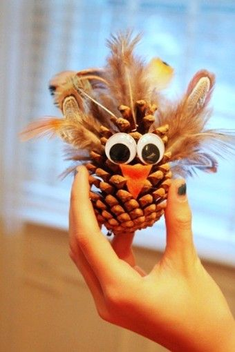 2014 Turkey Pinecone Ornaments Thanksgiving Table Centerpiece - Feather, DIY Crafts