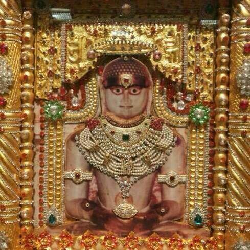In mount Palitana is the idol of 1st Thirtankar Shri Adinatha .