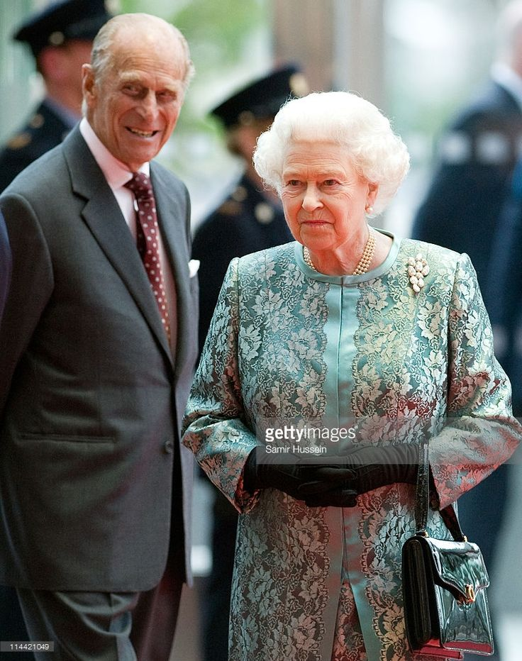 Queen Elizabeth II and Prince Philip, Duke of Edinburgh attend a fashion and arts show at the Convention Centre on May 19, 2011 in Kildare, Ireland. The Duke and Queen's visit to Ireland is the first by a monarch since 1911.