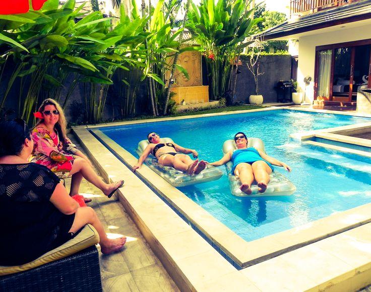 relaxing at our villa in seminyak - bali