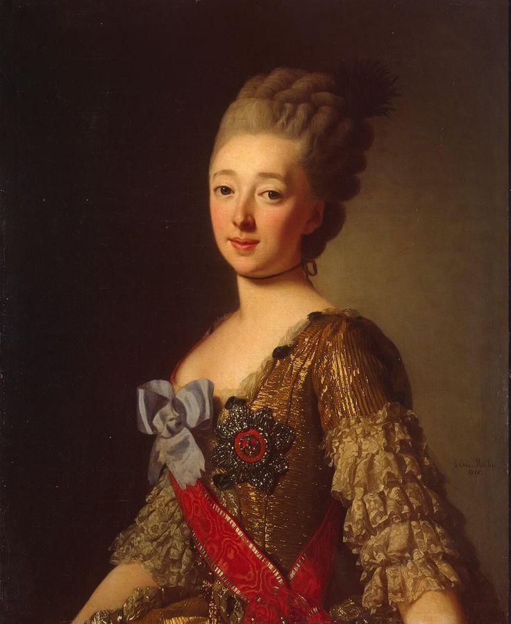 Portrait of Natalia Alexeievna of Russia by Alexander Roslin, 1776.