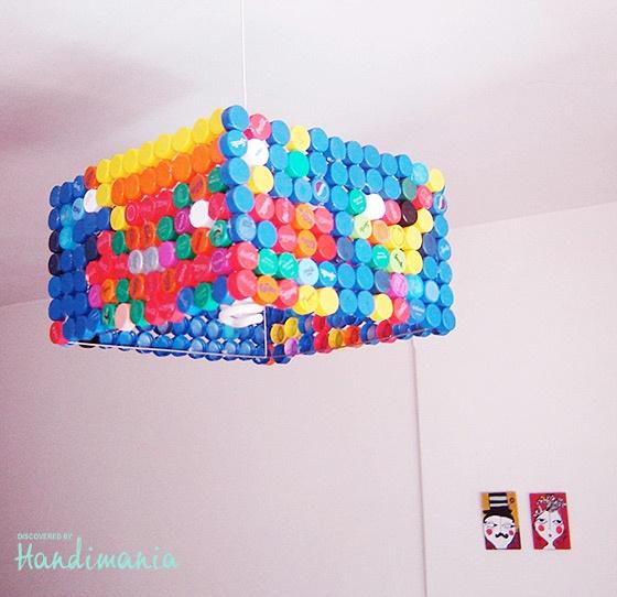 Lamp from Plastic bottle caps