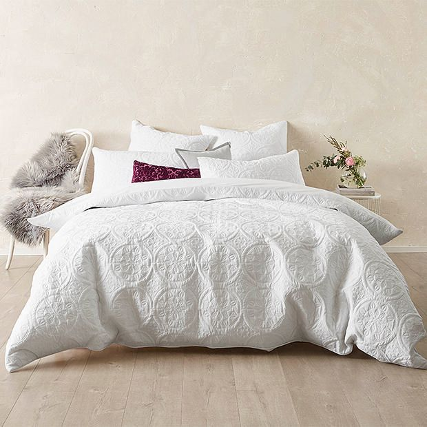 Olivia Quilt Cover Set Target Australia White Bed Covers