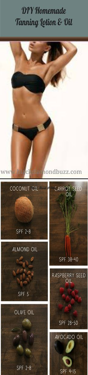 DIY Natural Homemade Tanning Lotion & Oil   Homemade Tanning Lotion &…