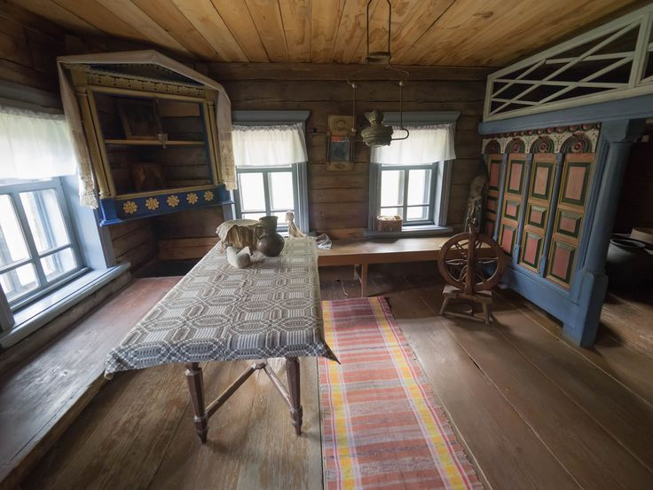 Interior of wooden house by Alexander Polomodov on 500px