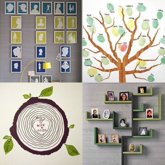 Very cool ways to show the Family Tree.  I like the lower right one, if only I had room.