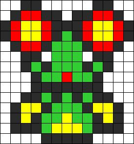 Bellossom Overworld Perler Bead Pattern / Bead Sprite