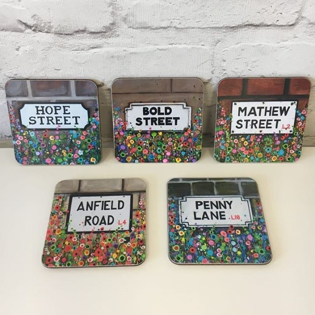 Liverpool just has the best streets ever so good that we've got them in coaster form! Add a spoonful of scouse to your cuppa!