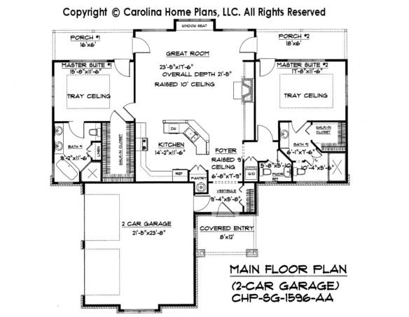 Craftsman Bungalow House Plan Sg 1596 Aa Small Craftsman