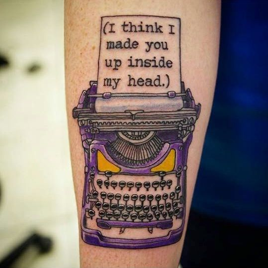 My Sylvia Plath quote/Typewriter tattoo  Done by GE at Artistic Impressions in Katy, TX