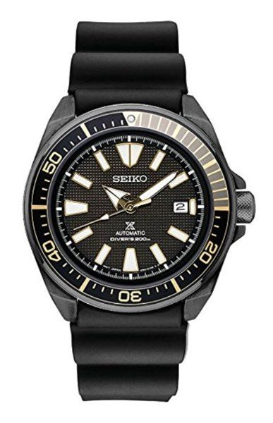 Seiko Prospex SRPB55 Men's Black Ion-Plated Silicone Automatic Diver's Watch