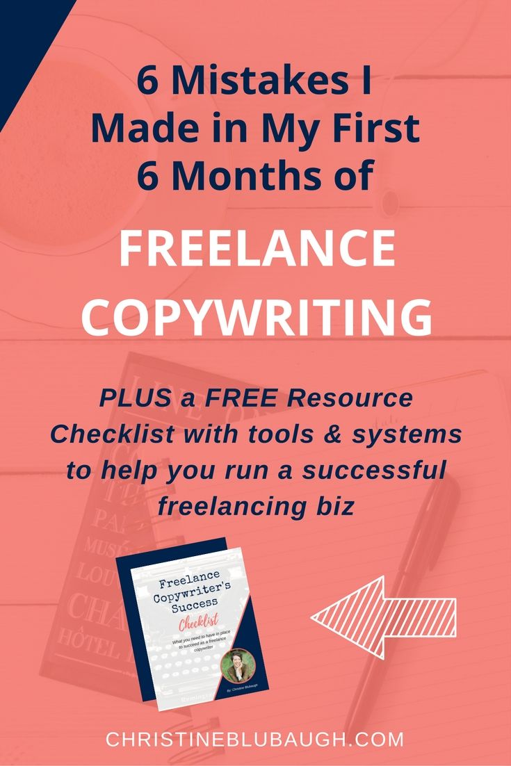 If you're a new or aspiring freelance copywriter, then this post is for you. Find out what mistakes I made in my first 6 months, and how you can avoid them. Plus grab a FREE checklist with the tools & systems I've found essential to making my freelance copywriting business a total success.