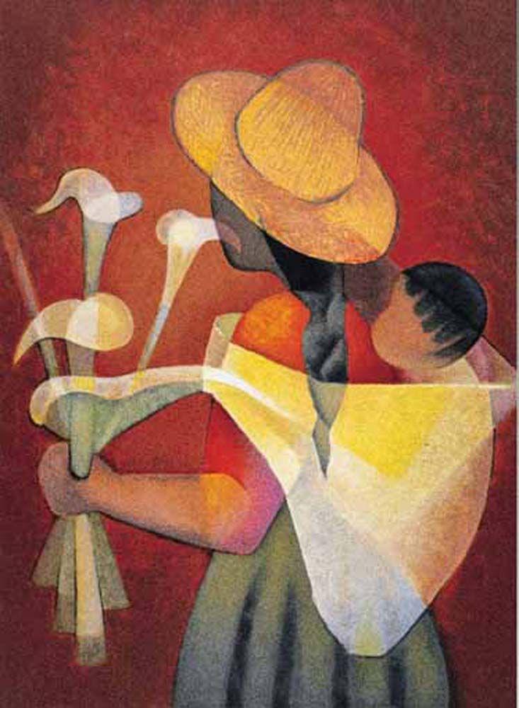 La vendeuse d'arums - Luis Toffoli - Puzzles pieces: 1000-1500 -- 1000 pcs (2801N14939G) - 1500 pcs (2901N16187)