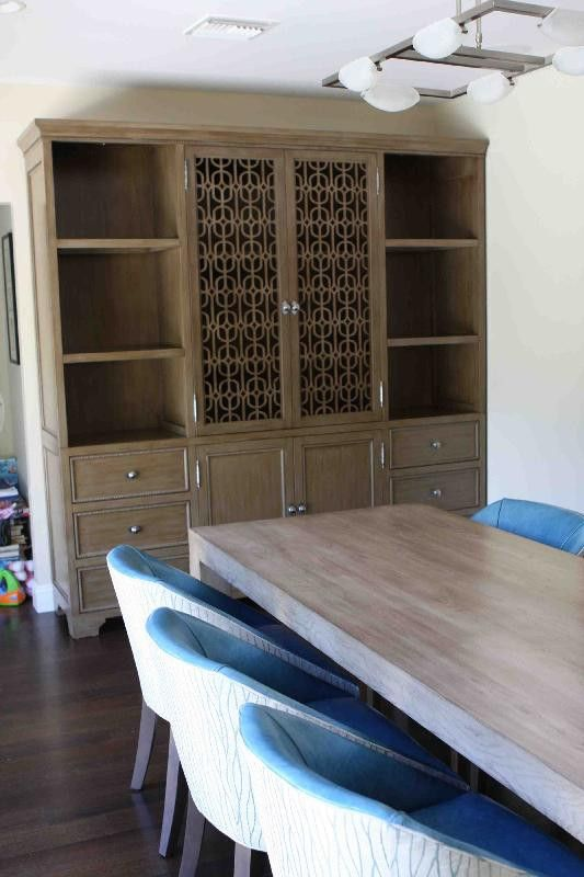 Attractive Designed By Sara Ingrassia Interiors Custom Wall Unit Featuring Laser Cut  Decorative Door PanelsBuilt In HardwoodFinished