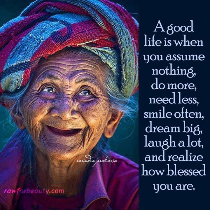 What are your thoughts for a long happy life?