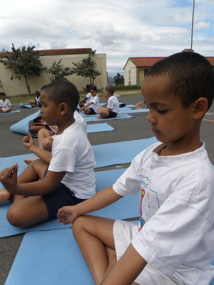Yoga Kids at St. James Primary School in Kalk Bay
