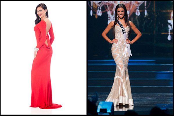 Amanda Soltero, Miss Nebraska -Cosmopolitan.com Left Image- Styled by Bridal Elegance | Gown by Tarik Ediz
