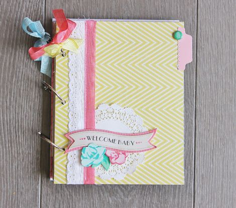 Maternity Smash Book Tutorial w/Sophie Crespy  - click the link and see the pages inside and how she made this; a must see!