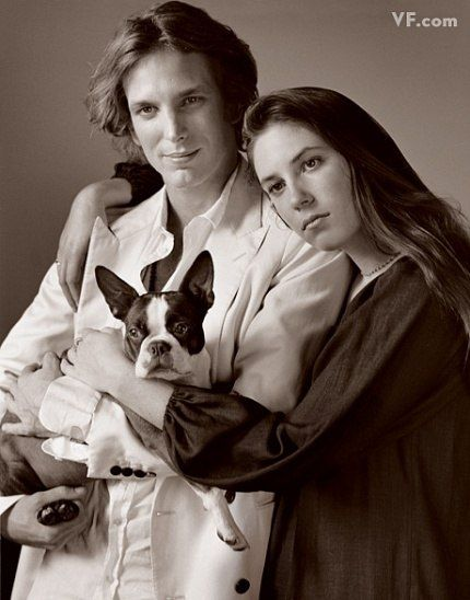 Andrea, Tatiana, and their dog Daphne in the May 8 2009 issue of Vanity Fair Magazine.