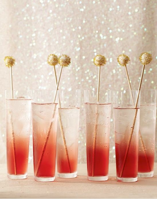 Gold and Pink always works / Oscars Party Cocktails from Martha Stewart