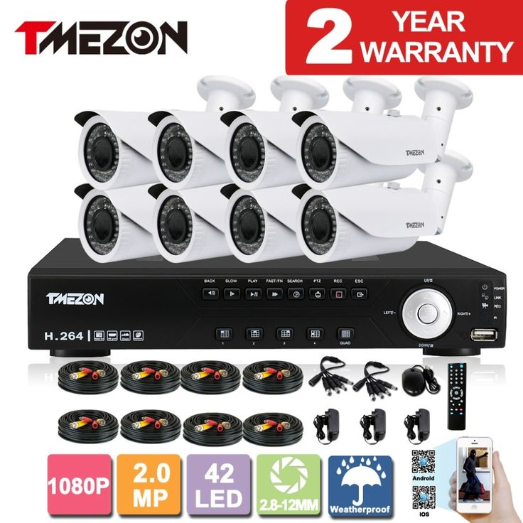 622.93$  Watch here - http://alieww.worldwells.pw/go.php?t=32649711392 - Tmezon AHD 8CH 2.0MP 1080P 2.8-12mm CCTV Security System 8p Night Waterproof IR Camera Alarm Systems Security Home Diy Zoom Kit