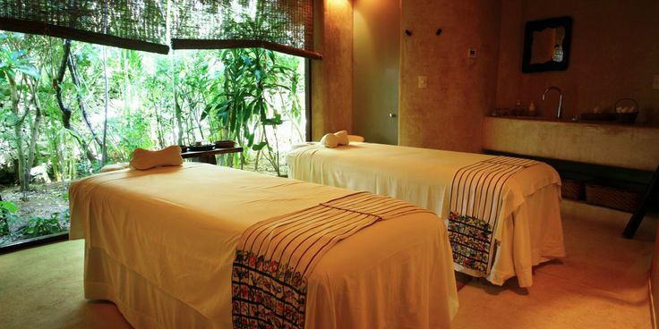 Escape : Aroma Spa has five treatment rooms, four Jacuzzis and two Mayan-style domed steam rooms. #JetsetterCurator