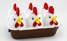 Basteln zu Ostern: Osternest aus Eierkarton
